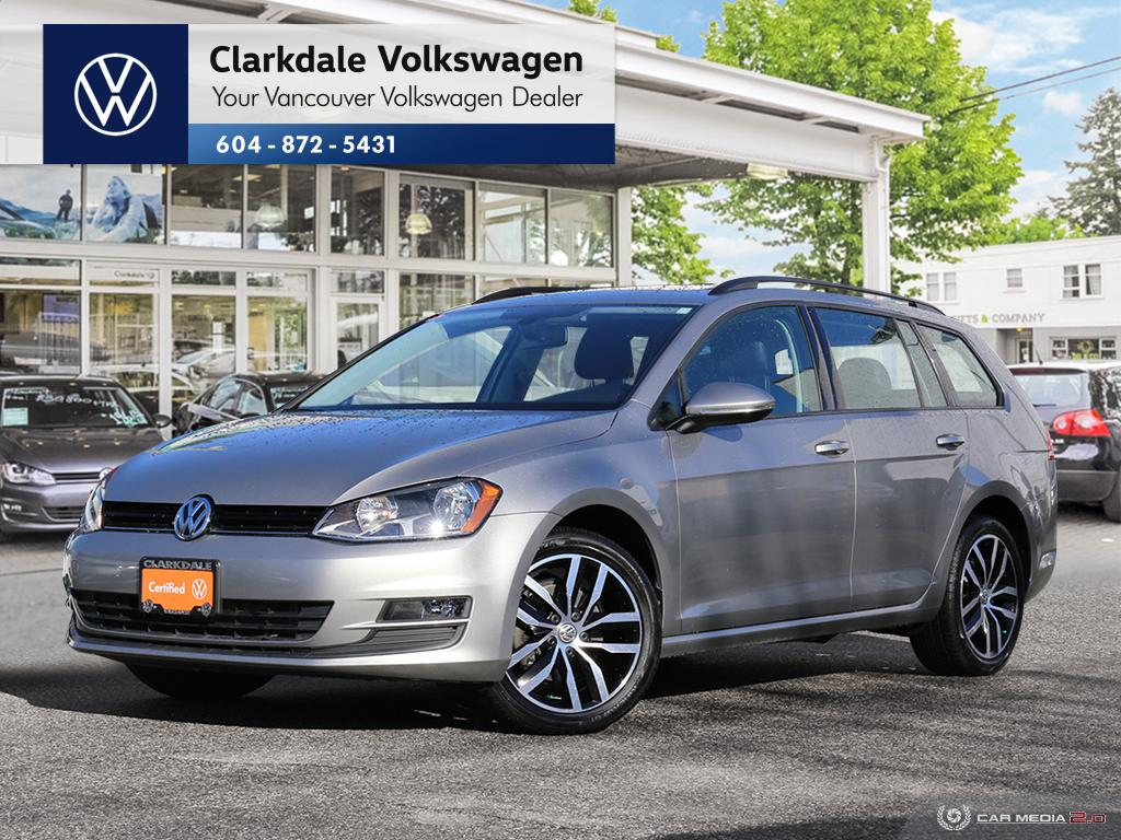 Certified Pre-Owned 2017 Volkswagen Golf Sportwagen 1.8T Comfortline 6sp at w/Tip