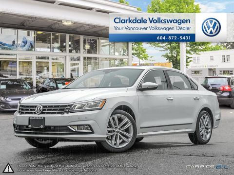 NEW 2018 VOLKSWAGEN PASSAT HIGHLINE 2.0T 6SP AT W/TIP FRONT WHEEL DRIVE 4-DOOR SEDAN