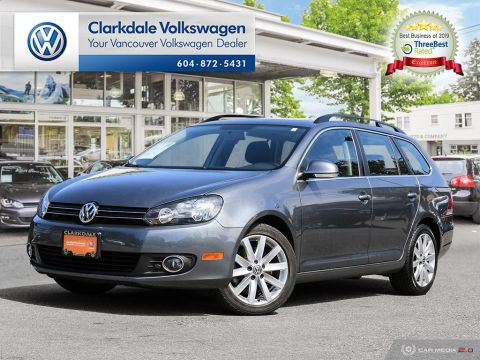 Certified Pre-Owned 2013 Volkswagen Golf Wagon 2.0 TDI Highline DSG at w/ Tip